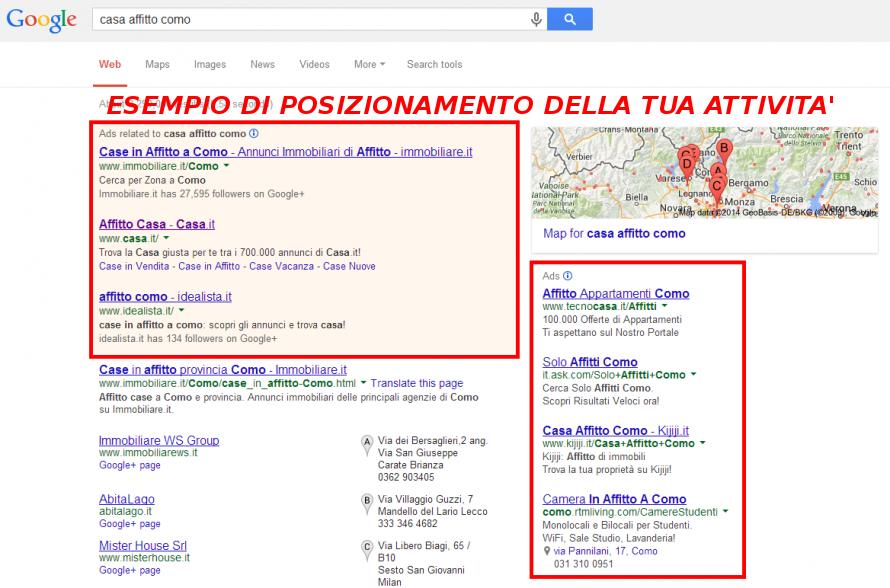 adwords, sem, annunci, prima posizione, google, milano, pubblicità
